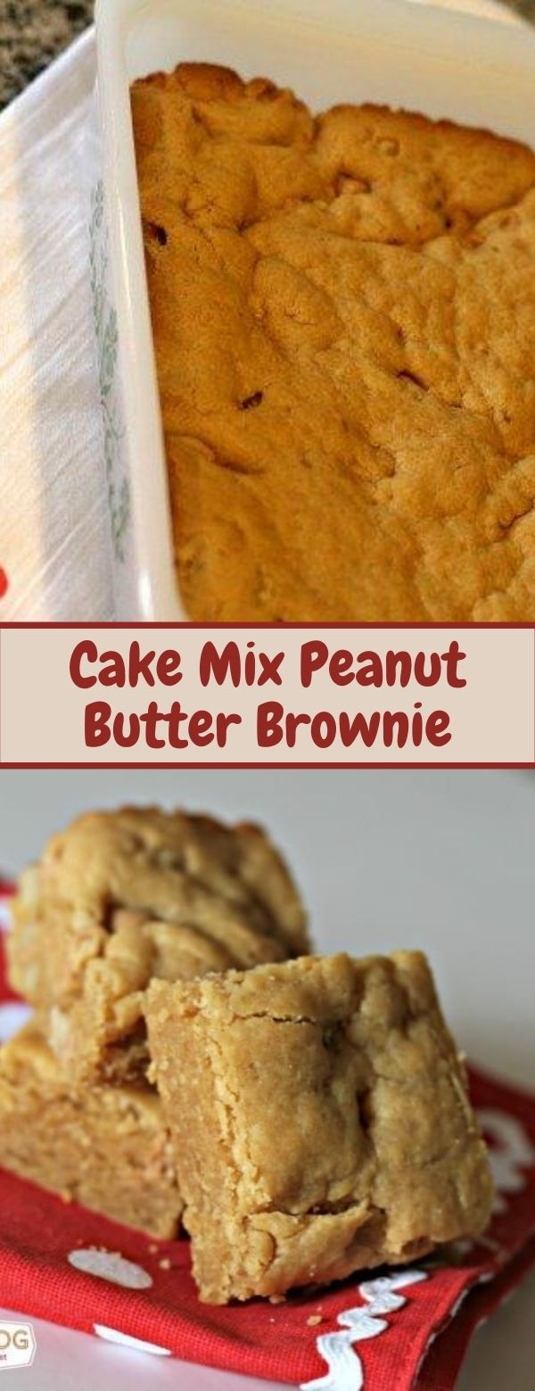 Cake Mix Peanut Butter Brownie