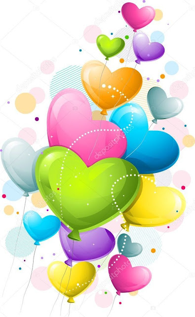 colorful balloon hearts images and photos for mobile and smartphones