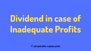 dividend in case of inadequate profits
