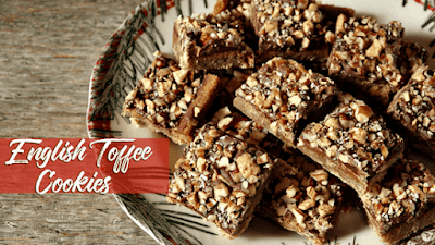 English Toffee Cookies, a featured post at Funtastic Friday @ Scratch Made Food! & DIY Homemade Household!