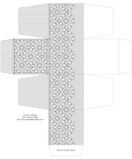 Black and white box to print and color. Available in 2 sizes- click through for both.