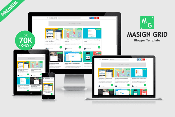 Masign Grid Premium Blogger Template Free Download