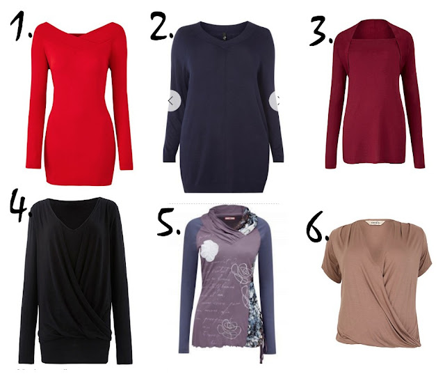 autumn/winter tops for work or at home from Simply Be, Evans, and Joe Browns
