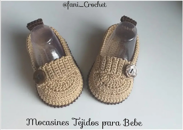 Zapatos Mocasines de Bebé a Crochet
