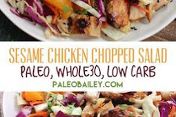 Healthy Sesame Chicken Chopped Salad Paleo & Whole30