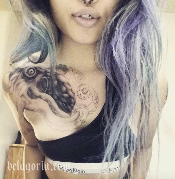 Foto de un tatuaje de Pulpo o Kraken