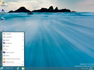 Windows 8.1'de klasik başlat menüsü yapmak