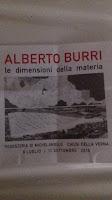 Alberto Burri le dimensioni della materia