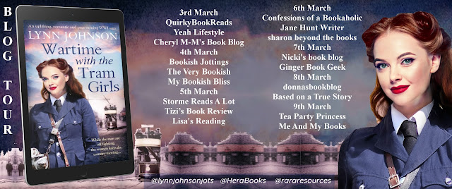 Wartime with the Tram Girls by Lynn Johnson blog tour banner