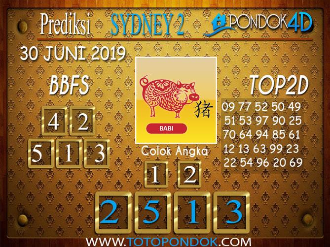 Prediksi Togel SYDNEY 2 PONDOK4D 30 JUNI 2019