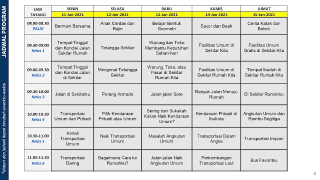 jadwal program belajar dari rumah bdr tvri tanggal 11 12 13 14 15 januari 2021 tomatalikuang.com