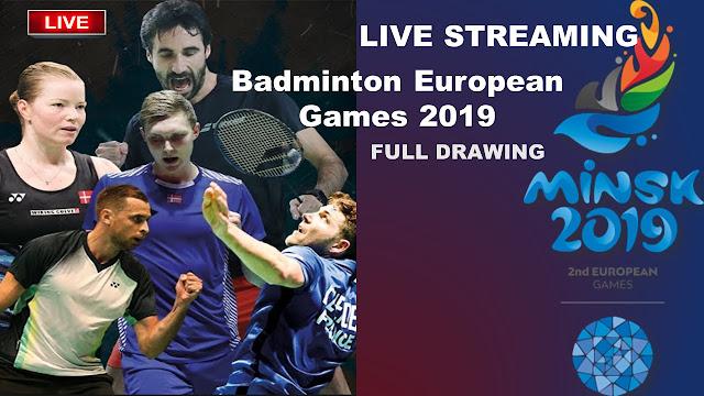 Live Badminton European Games 2019