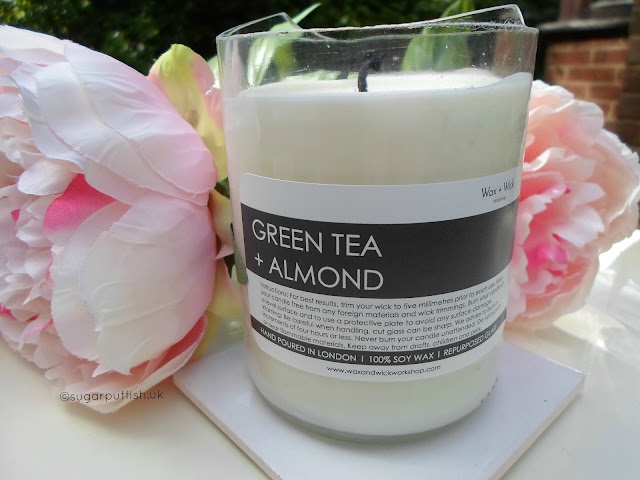 Wax + Wick Green Tea and Almond Soy Wax Candle