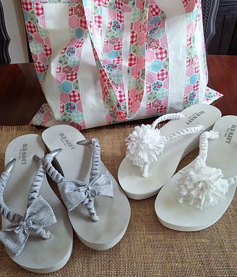 Beautify your flip flops! www.diybeautify.com