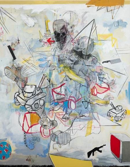 Thameur Mejri, Before you split the ground, 2016. | obras de arte abstracto contemporaneo, pinturas abstractas, imagenes | art selecta pictures inspiration