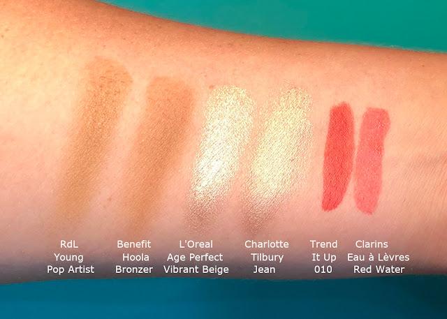 Charlotte Tilbury Eyes to Mezmerise Benefit Hoola Bronzer Clarins Lip Water Dupe