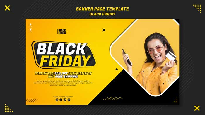 Black Friday Clearance Banner Template