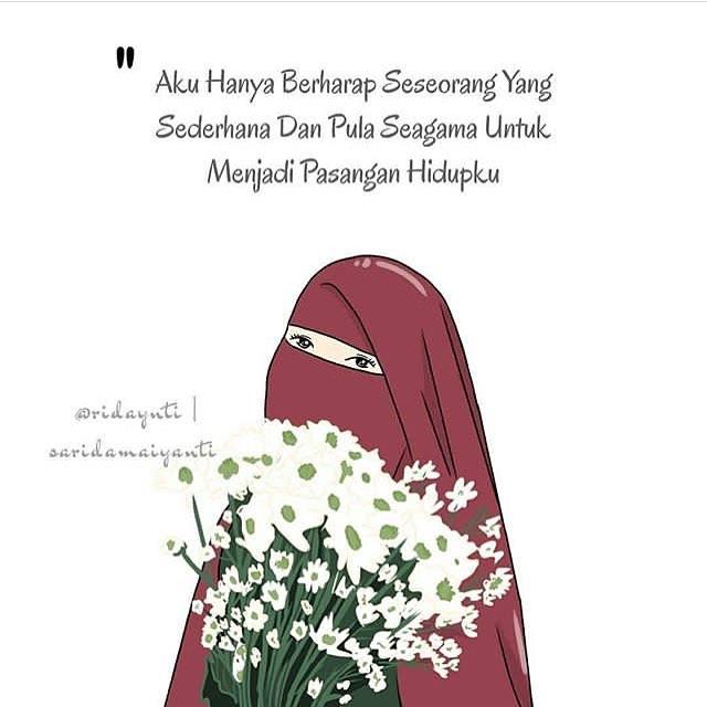 6600 Gambar Kartun Muslimah Bercadar Dan Pasangannya HD Terbaru