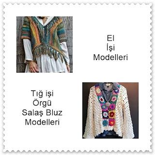 Tığ işi Bayan Bluz Modelleri