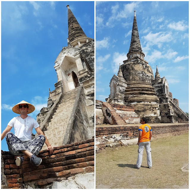 Templos de Wat Phra Sri Sanphet, em Ayutthaya.