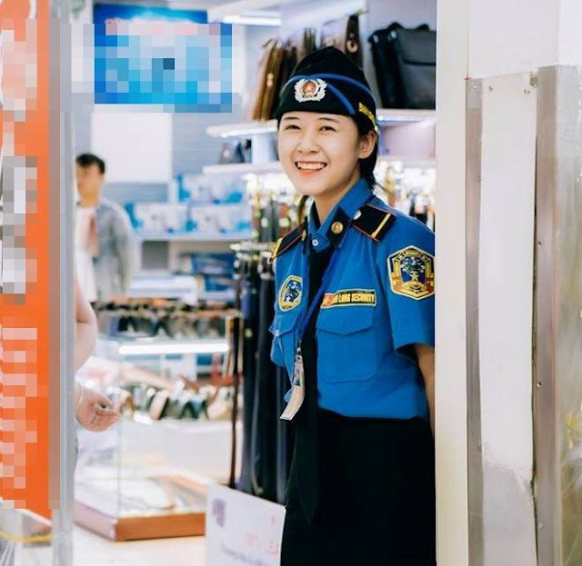 Nữ bảo vệ Nghệ An được dân mạng tìm kiếm nhờ gương mặt xinh xắn