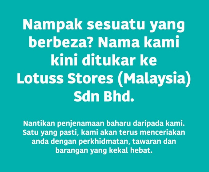 Tesco Malaysia Rasmi Bertukar Nama Ke Lotuss Stores