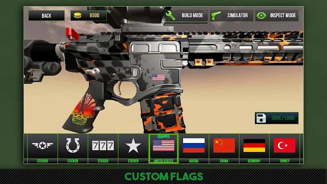 تحميل وتنزيل وتثبيت لعبة المحاكات والحروب والقنص Custom Gun Simulator 3D مهكرة وباخر اصدار من اللعبة