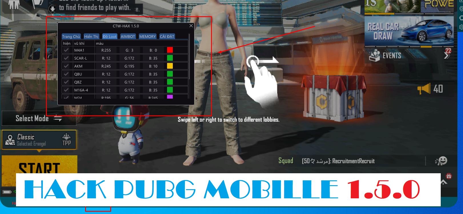 PUBG MOBILE 1.5.0 | CTW HAX MAGIC BULLET  [updated 9-7]