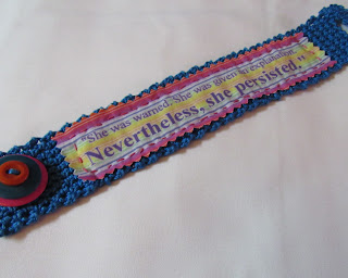 She Persisted crocheted bracelet