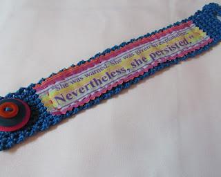 She Persisted crocheted bracelet