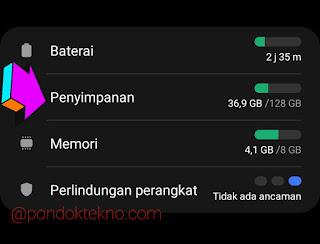 Cara Menghapus File Sampah di Samsung A51