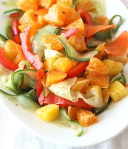 sweet orange and pineapple salad with japanese seven spice blend dressing recipe by season with spice shop