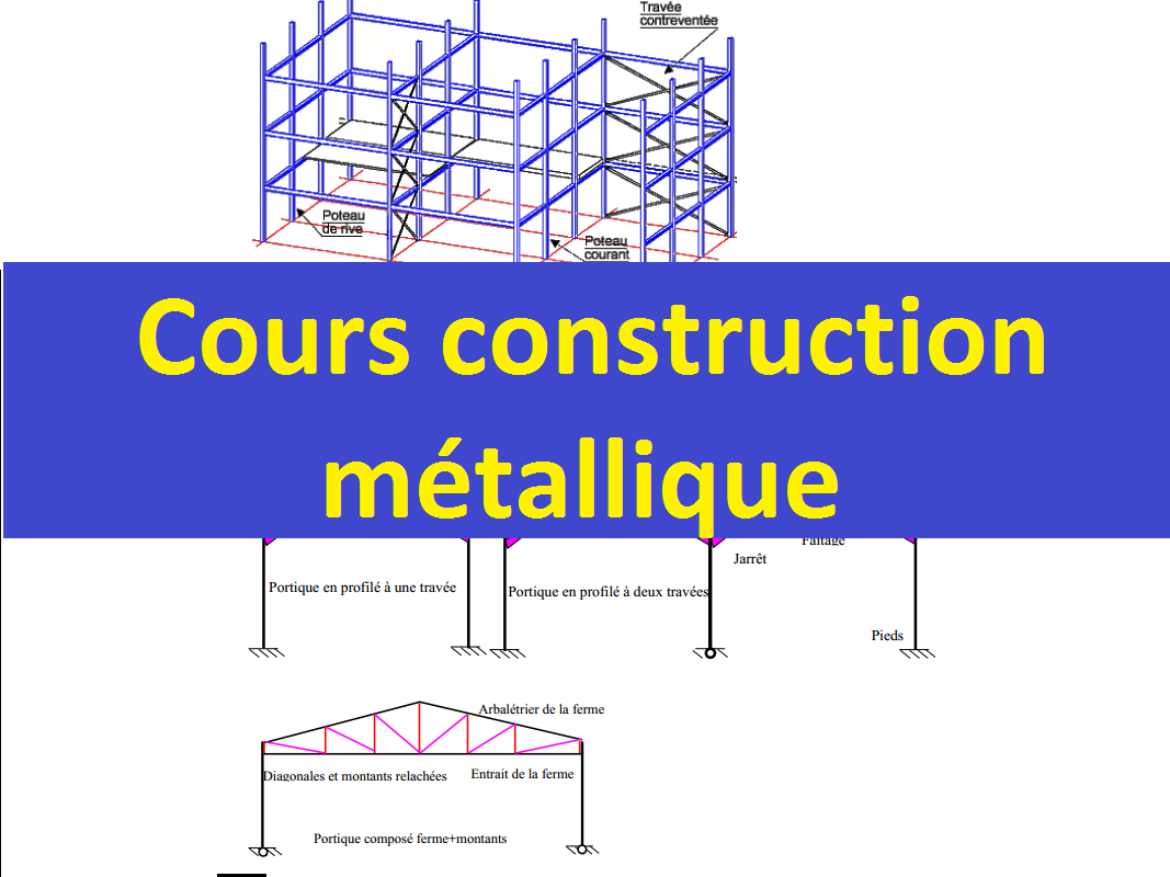 Plan de construction d 39 un hangar metallique pdf for Cours de construction pdf