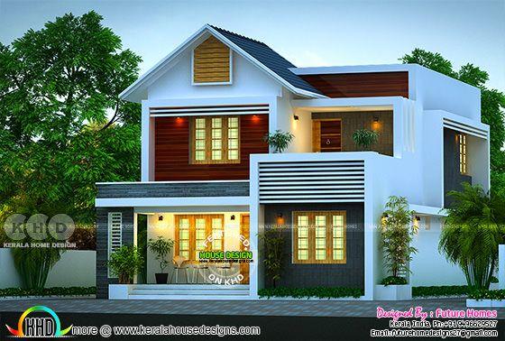 163 sq-m beautiful mixed roof 4 BHK Kerala home