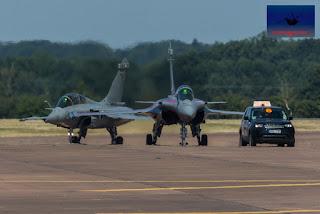 2 ship Dassault RafaleM French Airforce RIAT Fairford airshow air display
