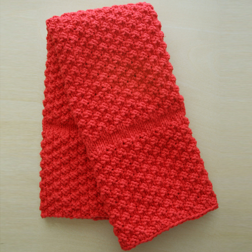 Chili Pepper Red Kitchen Towel - Free Pattern