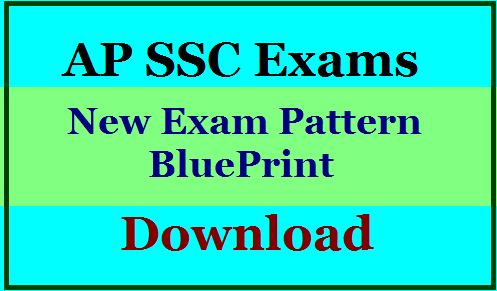 AP SSC Blueprint 2021/AP 10th New Exam Pattern and Syllabus and Model Question Papers Download