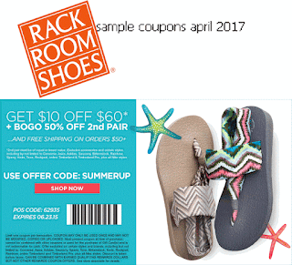 free Rack Room Shoes coupons for april 2017
