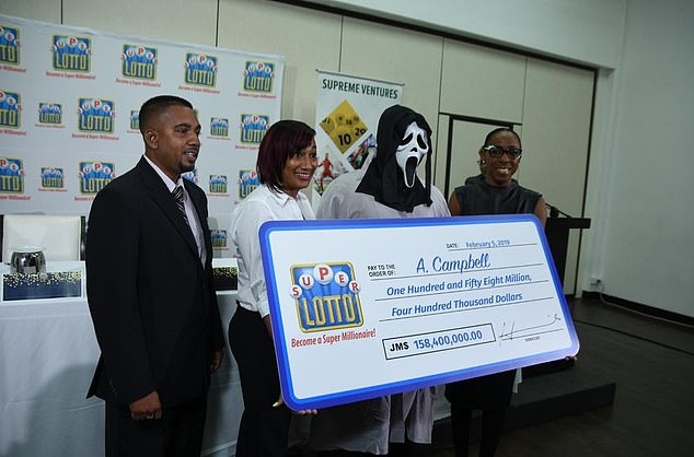 Lottery winner hides his identity as he wears Scream mask to collect £1million prize