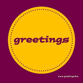 Greetings Text label Image