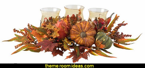 Harvest Triple Candelabrum, Orange