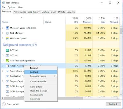 Cara Menutup Program Komputer Yang Sering Not Responding, cara memperbaiki laptop yang hang, cara memperbaiki laptop error, cara memperbaiki komputer yang not responding, cara menutup program komputer yang tiba tiba not responding