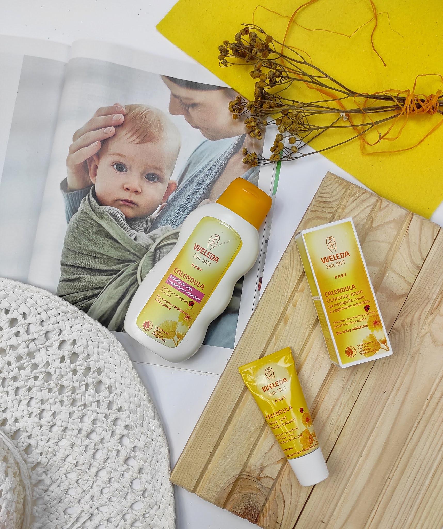 Calendula - linia pielęgnacyjnych kosmetyków dla dzieci od marki Weleda