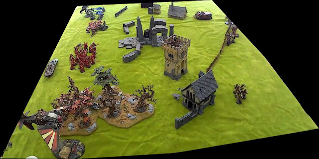 Warhammer 40k battle report - Cleanse and Capture - Space Marines vs Chaos.