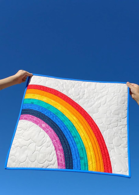 Bundle of Joy rainbow NICU baby quilt
