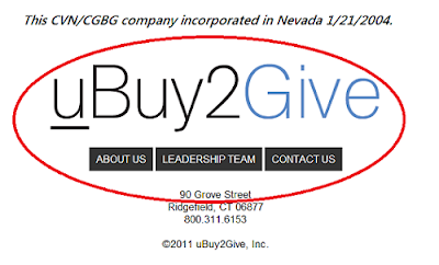 uBuy2Give.com is connected to CVN and CGBG