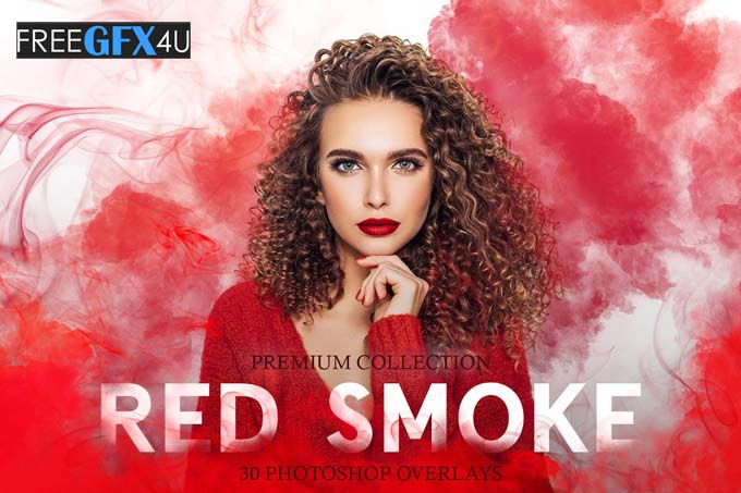 Red Smoke Photoshop Overlays