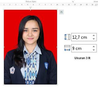 setting foto ukuran 3R di microsoft word