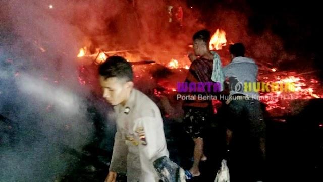 Satu Unit Rumah Panggung di Paradorato Ludes Terbakar, Diduga Akibat Kebocoran Gas Elpiji