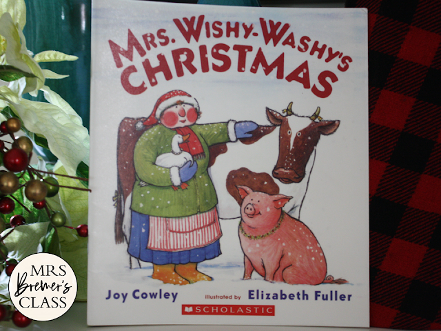 Mrs Wishy Washys Christmas  book study unit Common Core literacy companion activities with craftivity and class book K-1